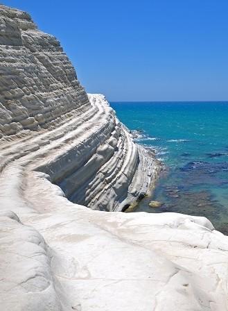 Breathtaking cliffs and beach near Agrigento