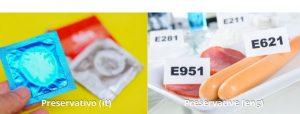 Italian false friend preservativo vs preservative comparison