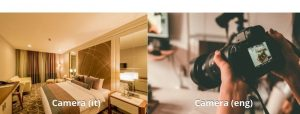 Italian false friend camera vs camera comparison